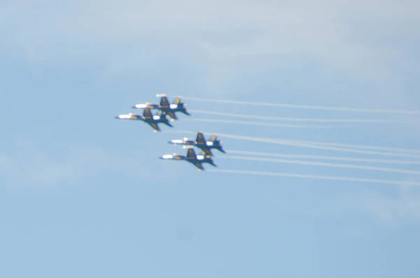 Photograph - Four Blue Angels by Bill Cannon