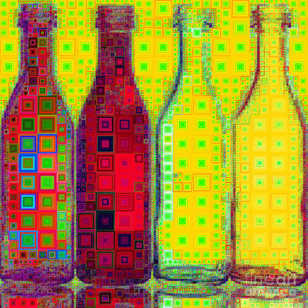 Wall Art - Photograph - Four Bottles In Abstract Squares 20190129a by Wingsdomain Art and Photography