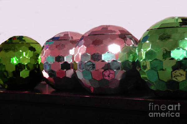 Shelves Mixed Media - Four Bright Balls by Sharon Williams Eng