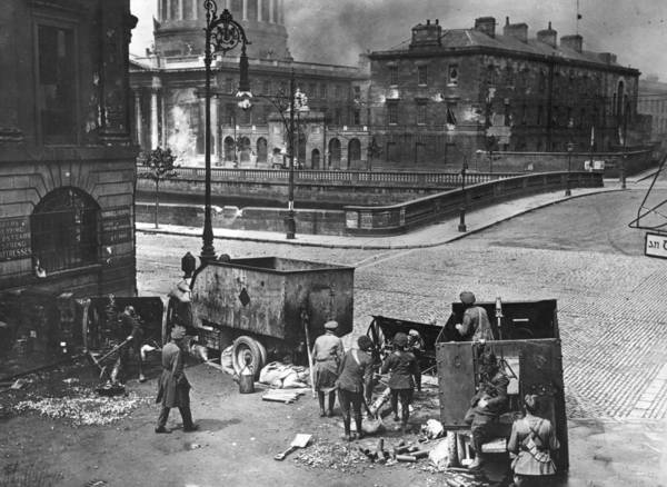 Court Photograph - Four Courts Siege by Walshe