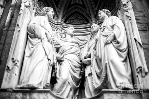 Photograph - Four Crowned Martyrs At The Orsanmichele In Florence by John Rizzuto