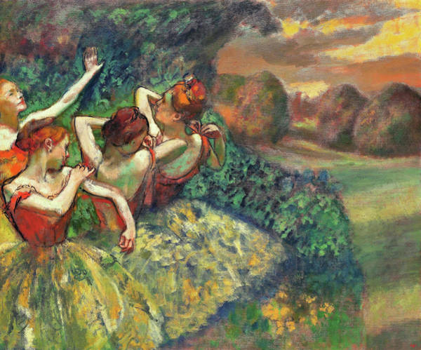 Wall Art - Painting - Four Dancers - Digital Remastered Edition by Edgar Degas