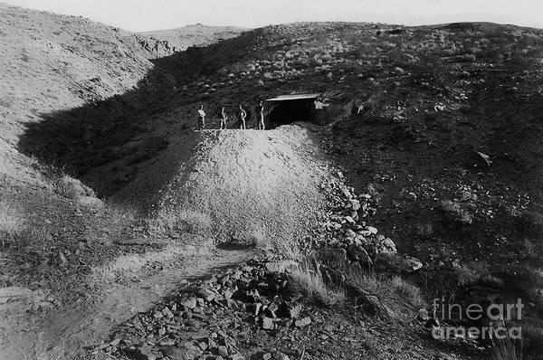 Photograph - Four Men At The Pitaluma Mine - Circa 1897 by Doc Braham