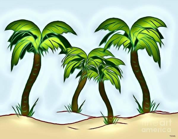 Wall Art - Drawing - Four Palms by Mesa Teresita