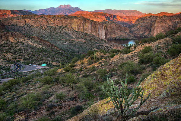 Photograph - Four Peaks And Canyon Lake Overview by Dave Dilli