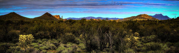 Photograph - Four Peaks Panorama From The Superstition Wilderness by Roger Passman