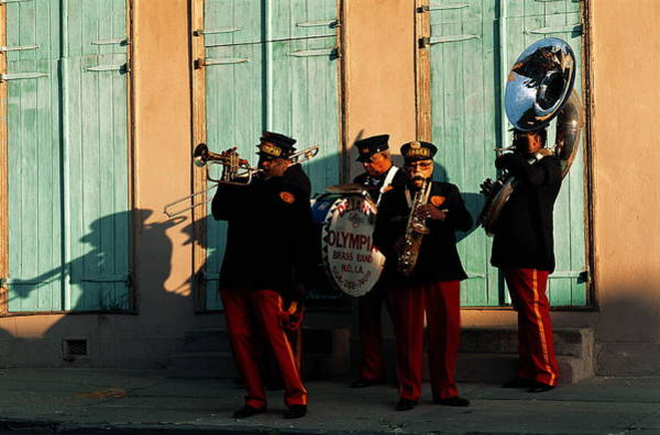 Wall Art - Photograph - Four Piece Street Band In New Orleans by Tim Bieber