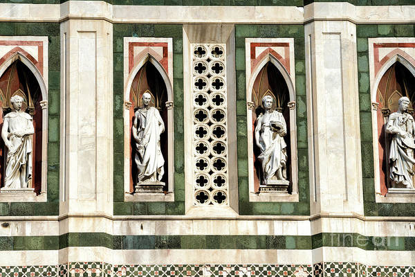 Photograph - Four Prophets By Donatello On Giotto's Campanile In Florence by John Rizzuto