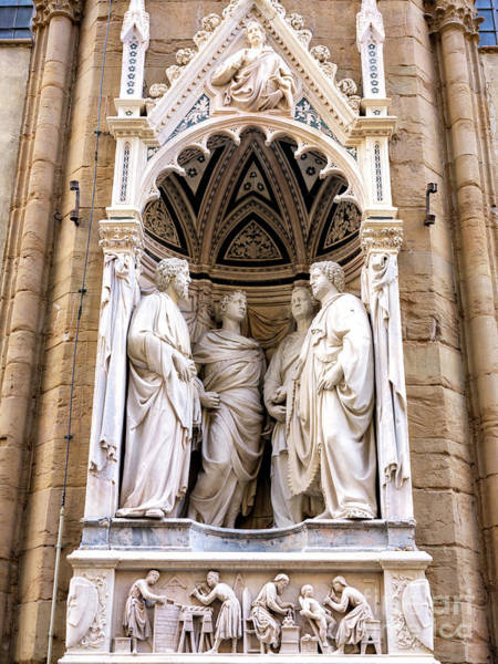 Photograph - Four Saints Coronates At The Orsanmichele Florence by John Rizzuto