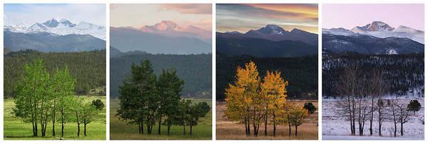 Fourteener Photograph - Four Seasons - Longs Peak by Aaron Spong