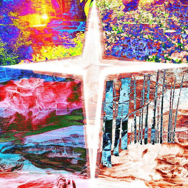 Digital Art - Four Seasons by Payet Emmanuel