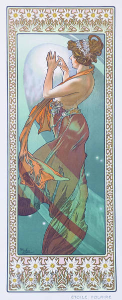 Alfons Mucha Painting - Four Stars, Polaris - Digital Remastered Edition by Alfons Maria Mucha