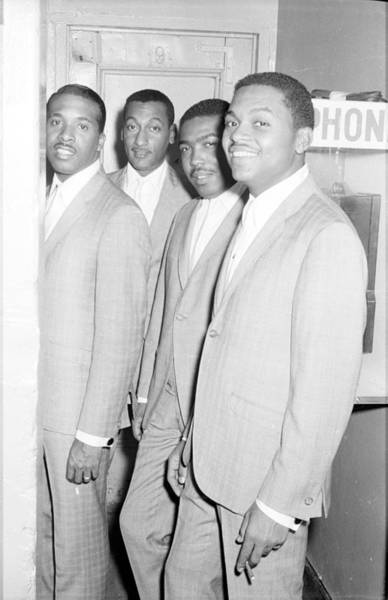 Lawrence Photograph - Four Tops Backstage Portrait by Michael Ochs Archives