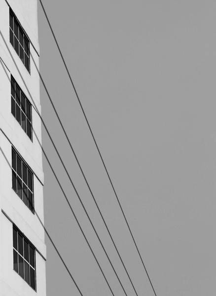 Photograph - Four Windows And Wires by Prakash Ghai