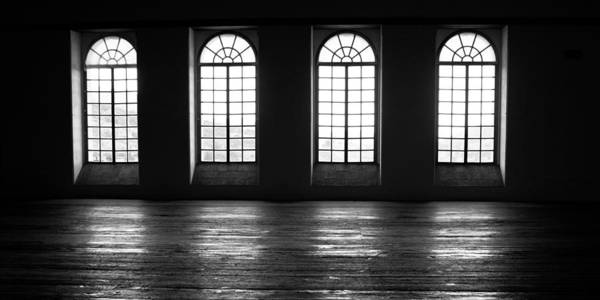 Photograph - Four Windows Black And White by Tatiana Travelways