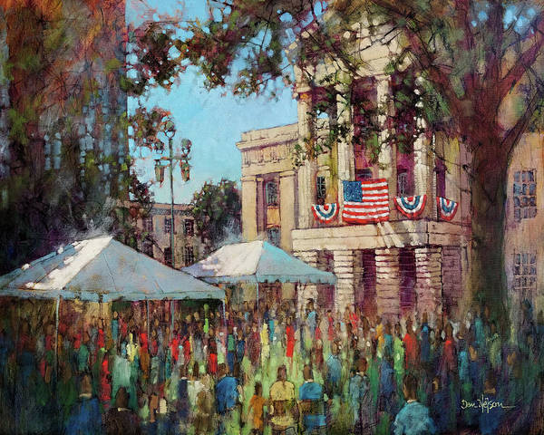 Wall Art - Painting - Fourth Of July At The Capitol by Dan Nelson
