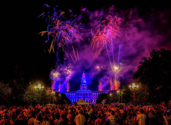 Wall Art - Photograph - Fourth Of July Fireworks Over Denver by Mountain Dreams