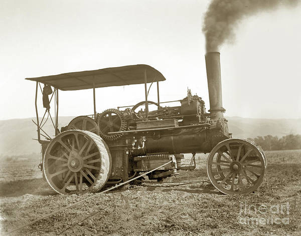 Photograph - Fowler 18 Nhp Steam Ploughing Engine, 1890 by California Views Archives Mr Pat Hathaway Archives