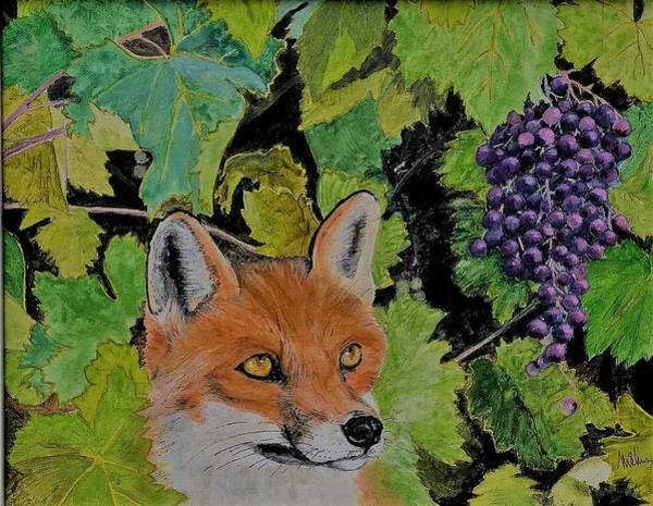 Michael Miller Wall Art - Painting - Fox And Grapes by Michael Miller