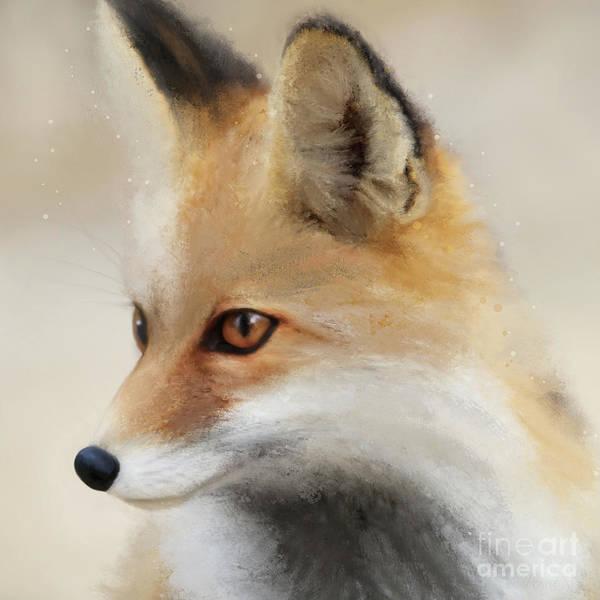 Digital Art - Fox by Anne Vis