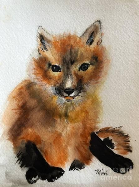 Painting - Fox Cub by Marcia Breznay
