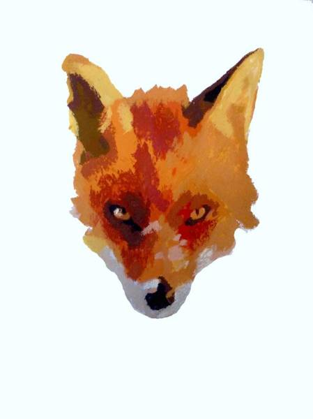 Engels Painting - Fox Face by Sarah Thompson-engels