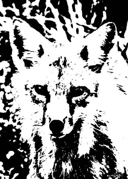 Digital Art - Fox by Harry Moulton