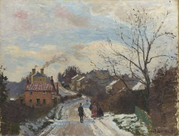 Wall Art - Painting - Fox Hill, Upper Norwood, 1870 by Camille Pissarro