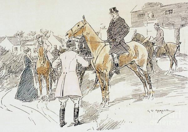 Wall Art - Drawing - Fox Hunt  Cartoon From Punch Magazine January 29, 1898 by English School