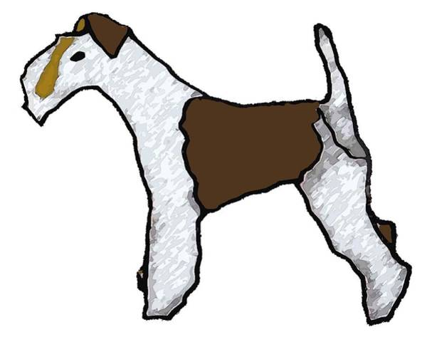Engels Painting - Fox Terrier by Sarah Thompson-engels
