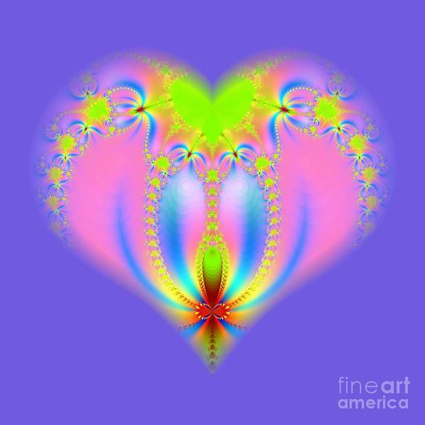 Digital Art - Fractal Abstract Heart New Springtime Love Blossoming by Rose Santuci-Sofranko