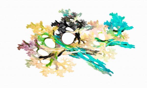 Digital Art - Fractal Bouquet Light Blue by Don Northup
