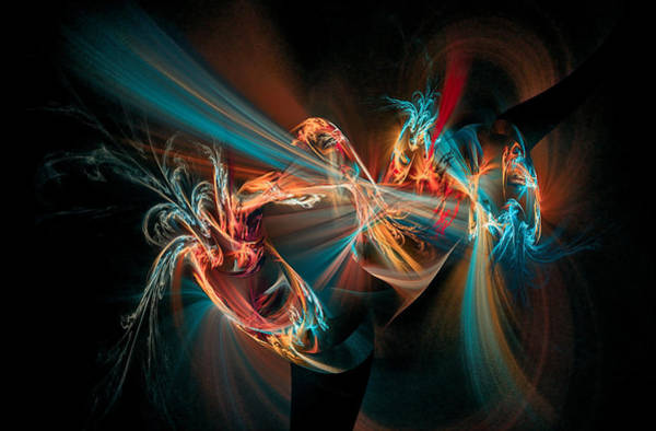 Digital Art - Fractal Spawn Blue by Don Northup