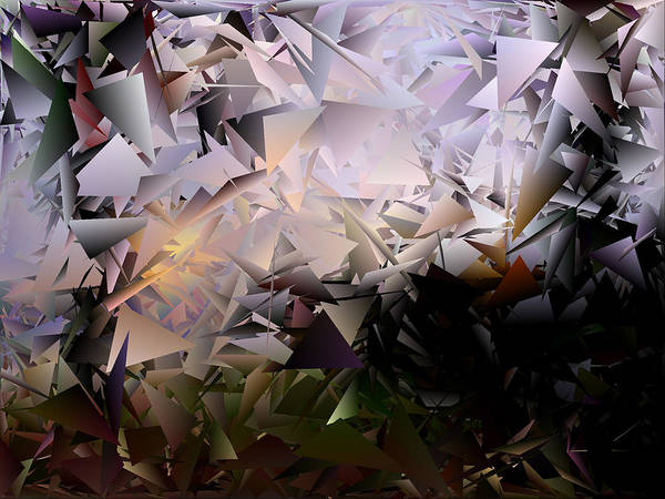 Photograph - Fractured Image 1 by Lee Santa