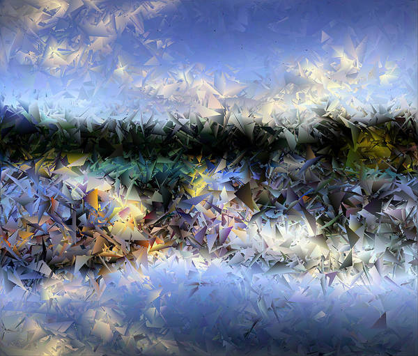 Photograph - Fractured Image 2 by Lee Santa