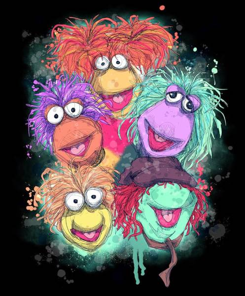 Nostalgia Drawing - Fraggle Rock by Ludwig Van Bacon