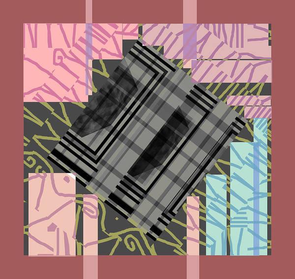 Digital Art - Frame It Pink Abstract by Artist Dot
