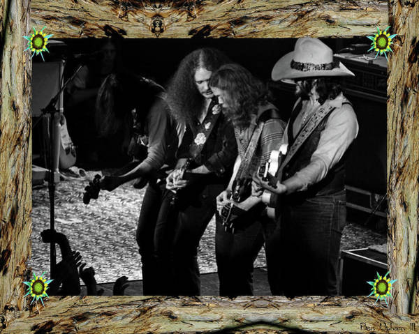 Photograph - Framed Outlaws At Winterland #2 by Ben Upham
