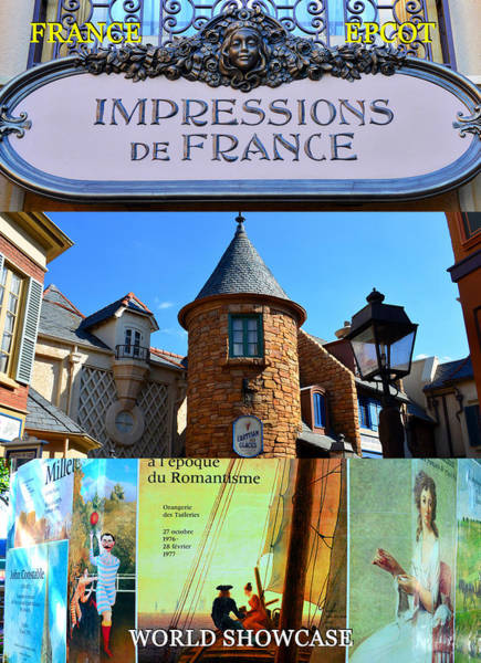 Wall Art - Photograph - France At Epcot Poster Work A by David Lee Thompson