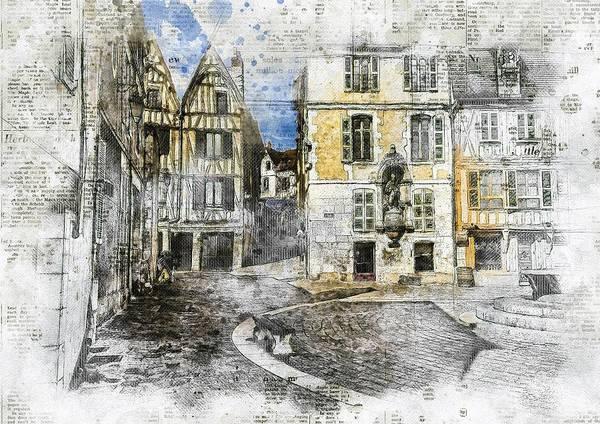 Wall Art - Digital Art - France, Bourgogne, Auxerre by ArtMarketJapan