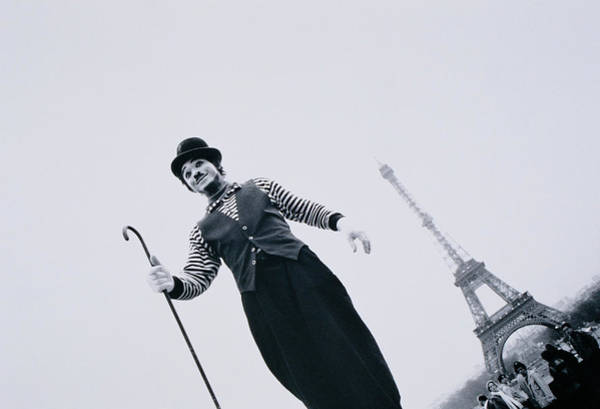 Walking Photograph - France, Ile-de-france, Paris, Mime by Walter Bibikow
