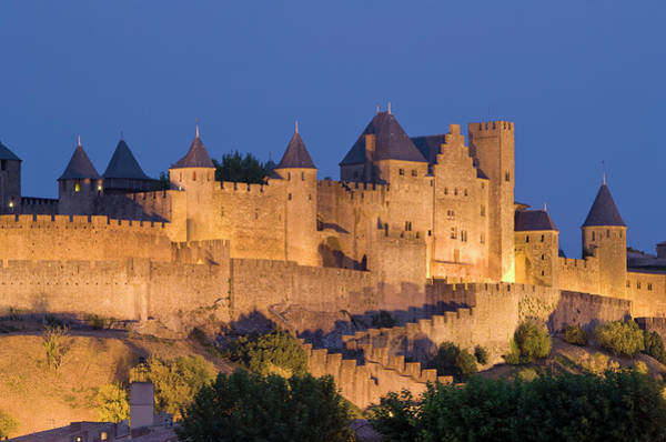 Photograph - France, Languedoc, Carcassonne, Castle by Martin Child