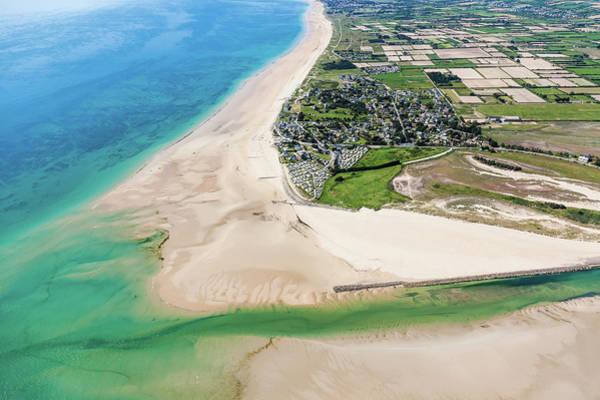 High Tide Photograph - France, Manche, Cotentin, Portbail, The by Leroy Francis / Hemis.fr