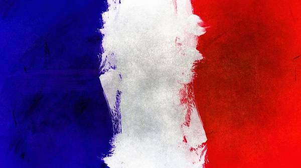 Wall Art - Painting - France National Flag by ArtMarketJapan