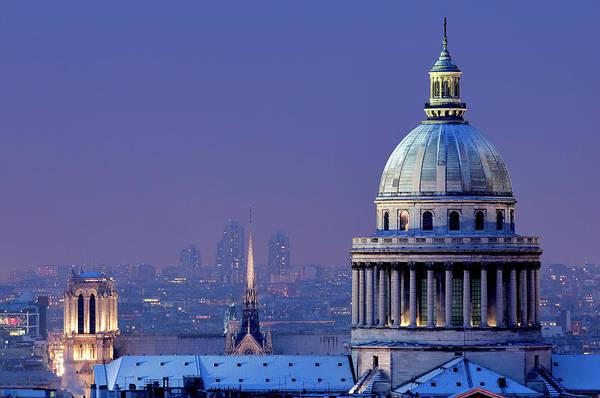 Paris Rooftop Photograph - France, Paris, The Pantheon by Chicurel Arnaud / Hemis.fr