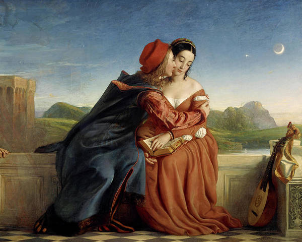 Wall Art - Painting - Francesca Da Rimini, 1837 by William Dyce