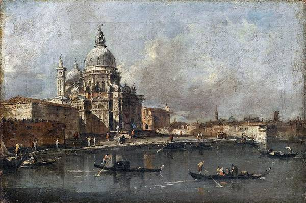 Wall Art - Painting - Francesco Guardi - View Of The Salute, Venice  1780  by Celestial Images