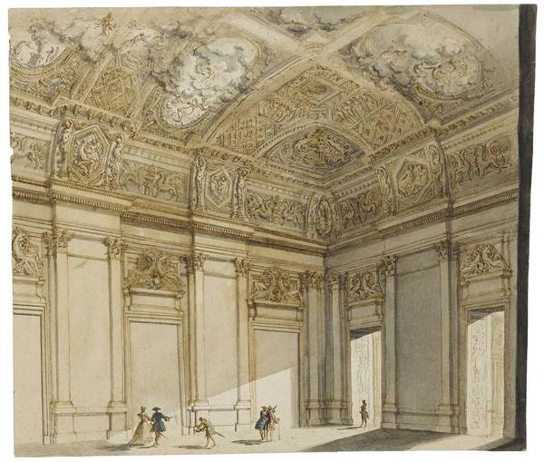 Wall Art - Painting - Francesco Panini Design For The Interior Of A Palace by Celestial Images