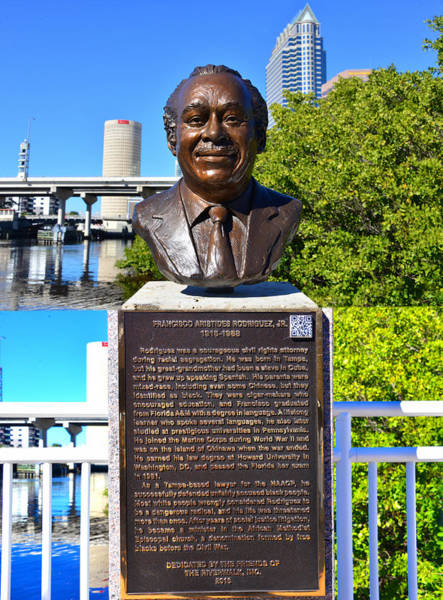 Wall Art - Photograph - Francisco A. R, Jr. Tampa's Riverwalk by David Lee Thompson