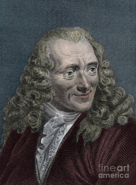 Wall Art - Drawing - Francois-marie Arouet Or Voltaire by French School